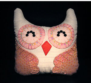 Hand-Crafted-OWL-Decorative-Pillow-OP52-Special-M