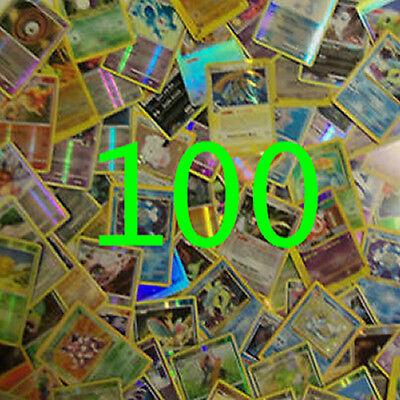 Pokemon TCG : 100 CARD LOT - 10 REVERSE FOILS GUARANTEED! NO ENERGYS NO TRAINERS