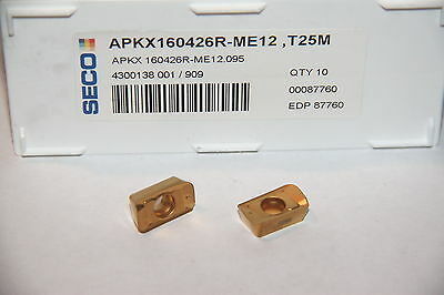 APKX 160426R ME12 T25M SECO *** 10 INSERTS *** FACTORY PACK ***