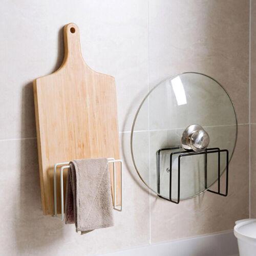 Kitchen Pot Lid Shelf Organizer Pan Towel Drain Storage Stand Kitchen Tool CB