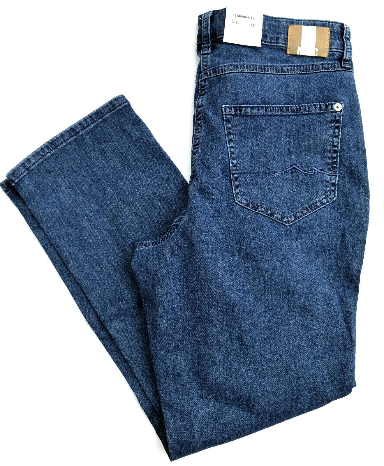 MAC Jeans MELANIE Stretch Denim blau regular straight fit basic Blau Gr.40  NEU