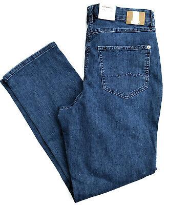 Mac Jeans Melanie Stretch Denim Blu Straight Fit Basic Tg. 46 L30 Nuovo-mostra Il Titolo Originale Per Garantire Una Trasmissione Uniforme