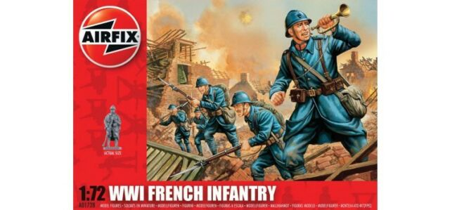 AIRFIX A01728 ww.1 FRENCH FANTERIA 1:72 48 figure Soldati