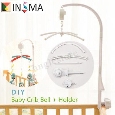 Baby Toddler Mobile Crib Bed Toy Clockwork Movement Music Box Bell Hanger FR