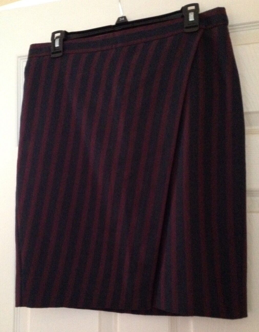 J CREW FACTORY STRIPED WRAP PENCIL SKIRT size 8 C9742  88. Sold Out