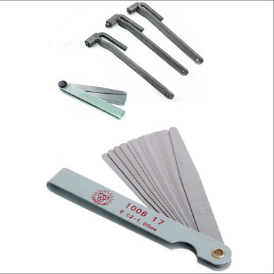 Details about 3x Motorcycle Engine Valve Adjustment Tool Valve Screw Wrench  & 1x Feeler Gauge
