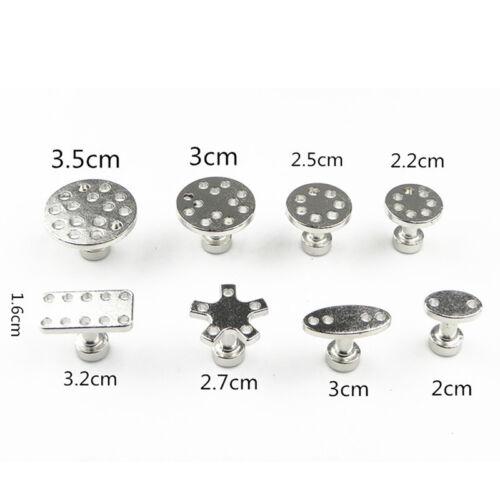 8* Metall Puller Tabs Pad Aluminium Kleber Dent Paintless Reparatur Removal 4H