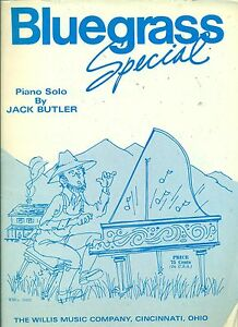 """bluegrass Special"" Piano Solo Sheet Music Piece Copyright 1988 Rare Brand New!! Dessins Attrayants;"