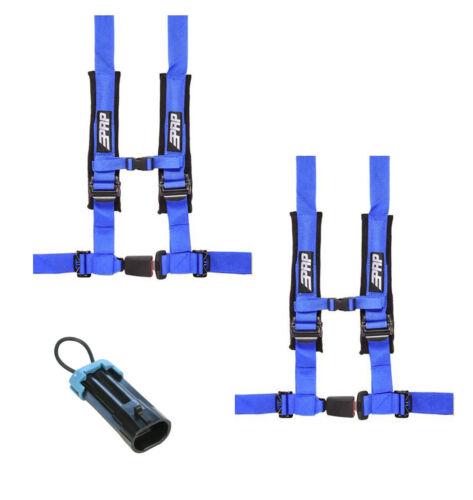 "PRP 4 Point 2/"" Harness Seat Belts Automotive Style Latch Blue Polaris RZR All"