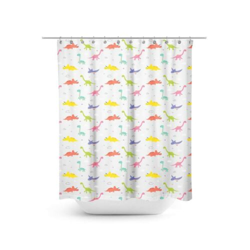 Dinosaur Shower Curtain Bathroom Decoration Decor 70 inches x 70 inches