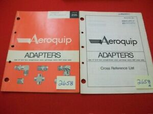 VINTAGE-1971-AEROQUIP-ADAPTERS-CATALOG-235-amp-CROSS-REFERENCE-LIST-BULLETIN-5151
