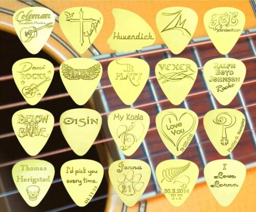 Electric Acoustic Bass STATUE OF LIBERTY Solid Brass Guitar Pick