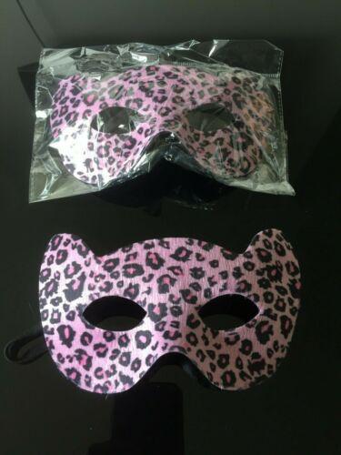 """Leopard Print /""""FRISKY/"""" eye masks in Golden or Pink colors"""