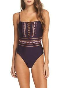 Becca-In-The-Mix-One-Piece-Swimsuit-M-8-10-Plum