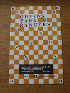 04-04-1977-Queens-Park-Rangers-v-West-Ham-United-No-Apparent-Faults