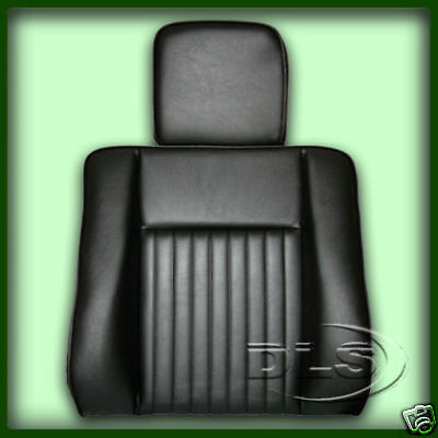 Land Rover Serie 3 Vinilo Deluxe asiento respaldo con Reposacabezas Negro-MRC6982H