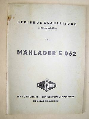 Old User Manual With Spare Parts List For Forage Harvesters E 062 Business, Office & Industrial