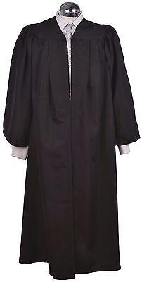Indipendente Black Laurea Abito-accademico Scapoli Robe-massima Qualità Lusso!-mostra Il Titolo Originale