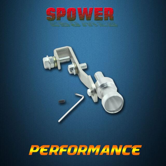 Universal Silver Fake Turbo Sound Whistle Exhaust Muffler Pipe Simulat S BOV AU