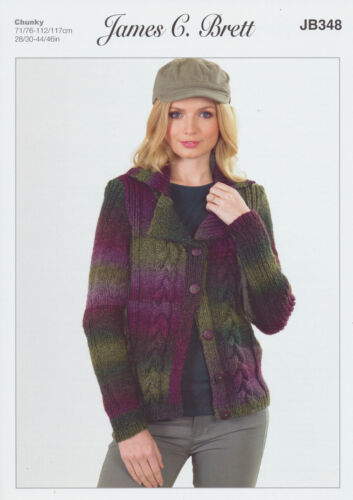 Lakeland Chunky Knitting Pattern Womens Cable Detail Jacket Cardigan JB348