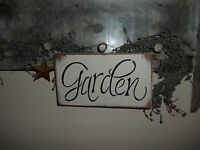 Flower Bed Garden Decor Garden Sign Country Rustic Prim Outdoor Spring Decor