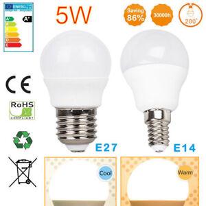 Bola-de-golf-5W-E14-E27-Bombilla-LED-no-regulable-Cool-Warm-White-ES-SES-Globe