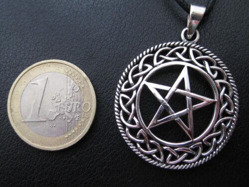 KA 354 Pentagramm 925/'er Silber Anhänger+Geschenkbox+Band Gothic gewölbt etNox