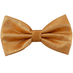 New men/'s pre-tied bowtie solid 100/% polyester glitter formal party prom silver