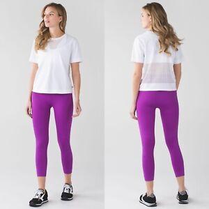 Lululemon-Zone-In-Crop-Legging-Size-6-Tender-Violet-Purple-Seamless-Yoga-Stretch