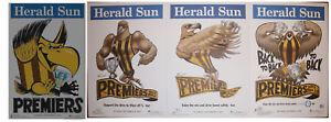 2008-2013-2014-2015-Original-Herald-Hawthorn-Hawks-Weg-Knight-Premiers-Posters