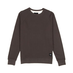 WEMOTO-KENNY-Col-ras-du-cou-olive-fonce-Pull-hommes-taille-S-XL