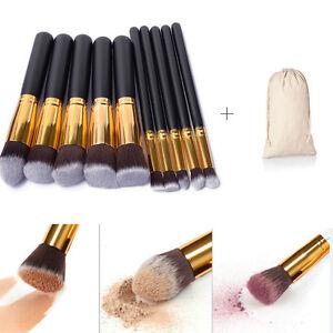 10Pcs-Cosmetic-Make-up-Brushes-Face-Powder-Blusher-Foundation-Kabuki-Contour-Set