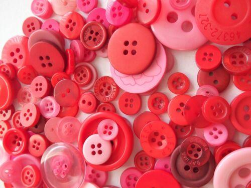 28 mm elegido al azar 100 Tamaños mixto de botones rojo o púrpura 7 Mm