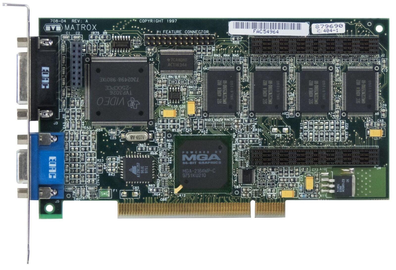 MATROX MILLENIUM II 4MB MIL2P/4I 708-04 PCI VGA