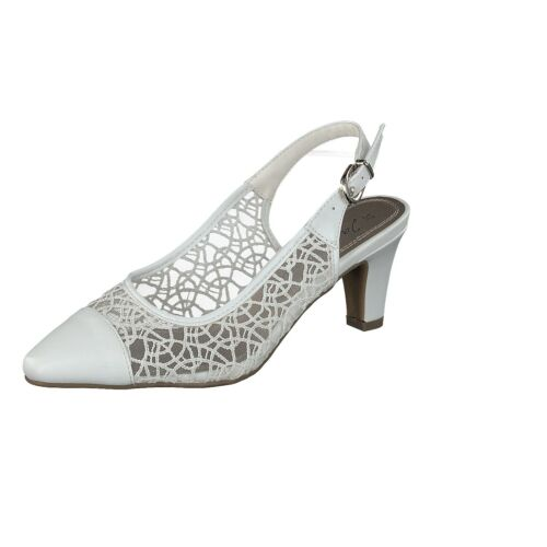 Jane Klain Chaussures 296 148 Femmes Mariage Chaussures Escarpins Bride dentelle blanc