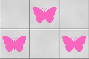 Papillons Vinyle Wall Tile Stickers autocollant cuisine salle de bain Home Decor Rose Doux