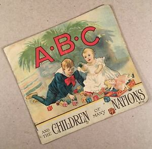 A•B•C AND THE CHILDREN OF MANY NATIONS No. 12 Stecher 1916 Illus. Primer Book