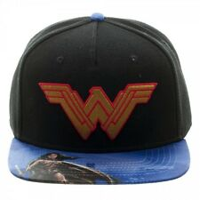 OFFICIAL DC COMICS BATMAN V SUPERMAN WONDER WOMAN SYMBOL SNAPBACK CAP (NEW)