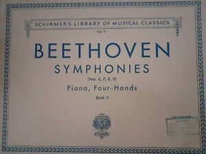 Partituras-SCHIRMER-039-S-Library-Of-Musical-1894-Beethoven-Piano-Four-Hands