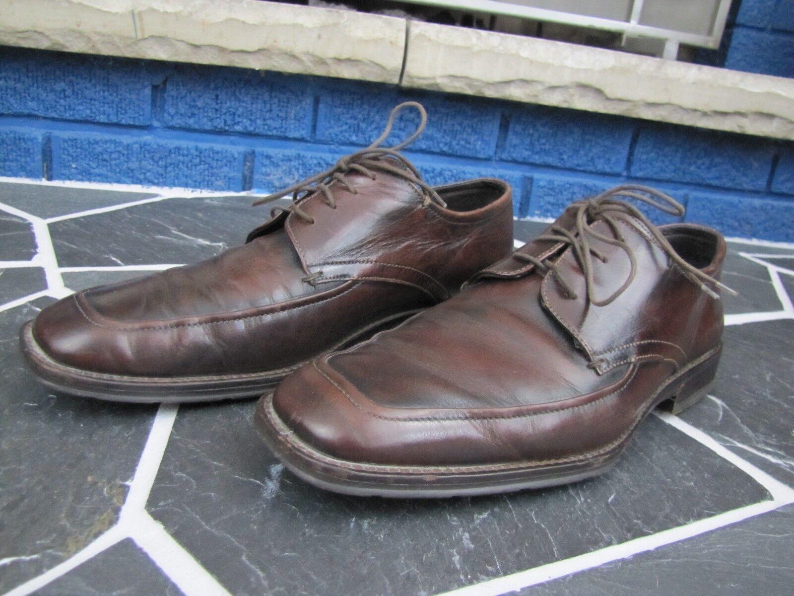 JOHNSTON & MURPHY 10.5 M Brown Pelle Derby Moc Toe Shoe Dress Casual 10 1/2 M
