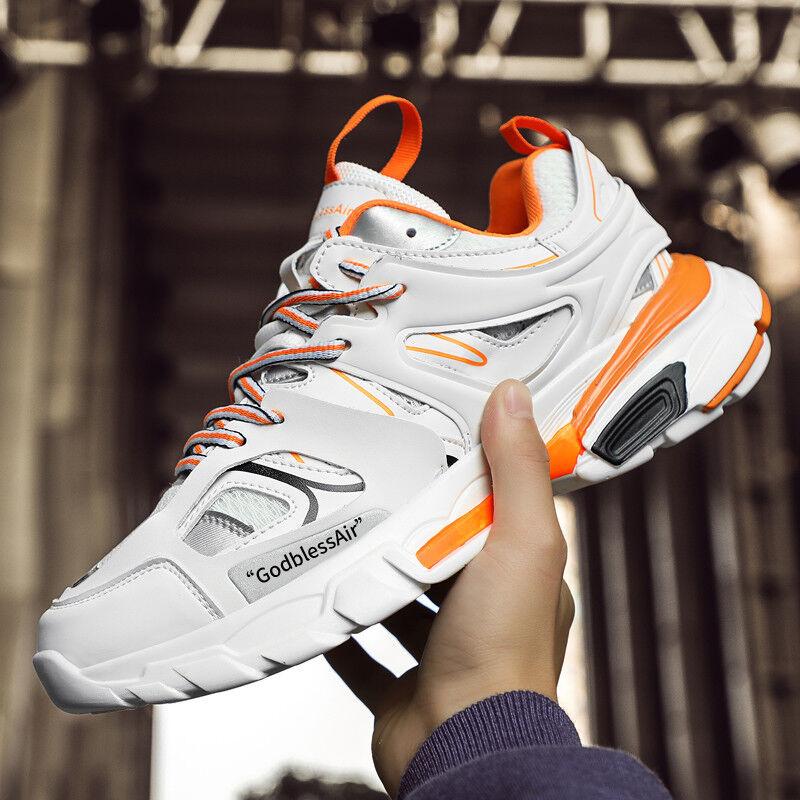 Men's Athletic Trainer Triples Sneakers Sports Running Walking Retro Gift US 11