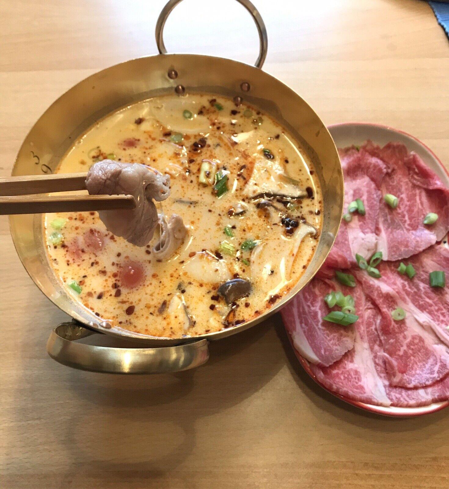 Hot Pot, soupe, casserole en laiton