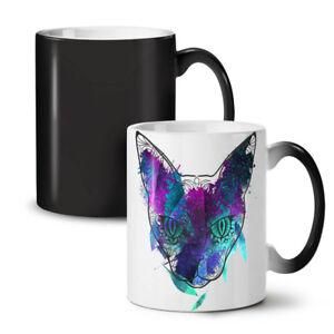 Mystic Cosmos Animal Cat NEW Colour Changing Tea Coffee Mug 11 oz   Wellcoda