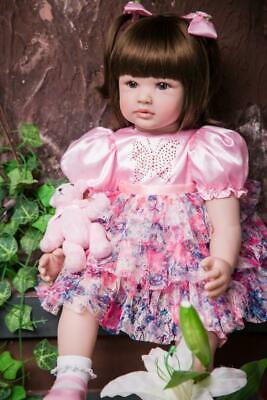 """24/"""" Girl Toddler Dolls Reborn Baby Dolls Real Life Child Doll Handmade Kids Gift"""