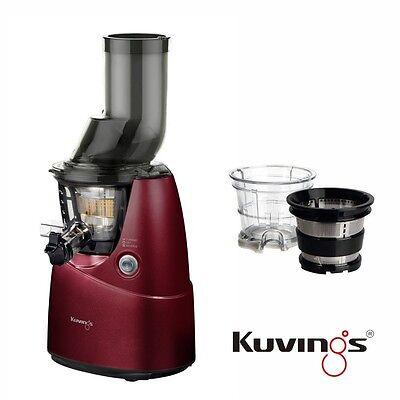 Kuvings Whole Slow Juicer B6000PR Rot + Eiscreme & Smoothies Set  *DHL Express*