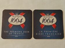 Beer Breweriana Coaster ~ KRONENBOURG Brewery 1664 ~ The Premier Biere of FRANCE