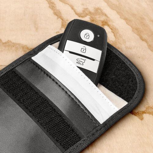 2pcs Car Key Signal Blocker Remote Cage Pouch Keyless RFID Blocking Black Bag