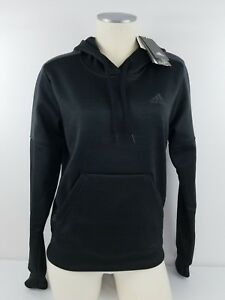 796164753df8 Adidas Women s Climawarm TI Fleece PO Hoodie Black Gray CF0035 Size ...