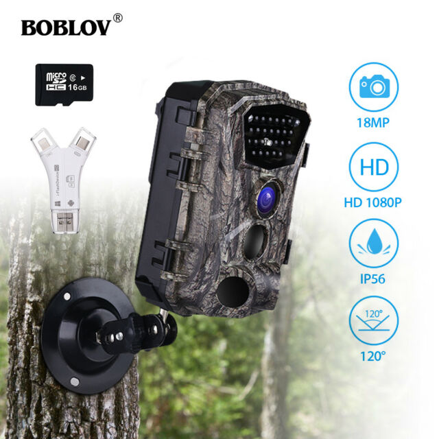 18MP 1080P 24PCS IR LED Wild Scouting Hunting Trail Camera +16GB + Card Reader