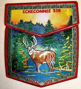ECHECONNEE-LODGE-358-2-PATCH-2018-100TH-OA-CENTENNIAL-2015-NOAC-2-PATCH-100-MADE